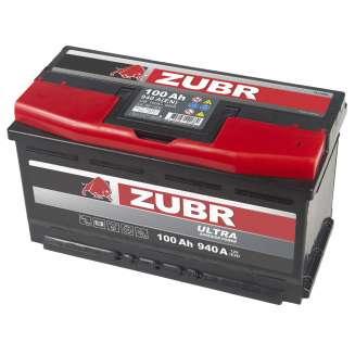 Аккумулятор ZUBR (100 Ah) 940 A, 12 V Обратная, R+ 1