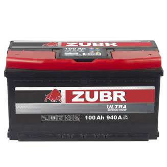 Аккумулятор ZUBR (100 Ah) 940 A, 12 V Обратная, R+ 2