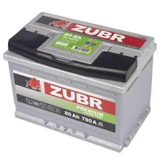 Аккумулятор ZUBR (80 Ah) 780 A, 12 V Прямая, L+ 1
