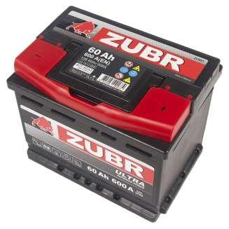 Аккумулятор ZUBR (60 Ah) 600 A, 12 V Обратная, R+ 0