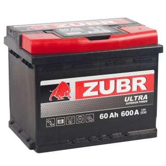 Аккумулятор ZUBR (60 Ah) 600 A, 12 V Обратная, R+ 2
