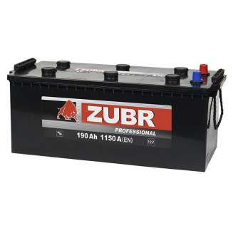 Аккумулятор ZUBR (190 Ah) 1150 A, 12 V Обратная, R+ 0