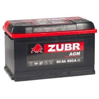 Аккумулятор ZUBR (80 Ah) 800 A, 12 V Обратная, R+ 2