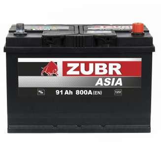 Аккумулятор ZUBR (91 Ah) 800 A, 12 V Обратная, R+ 0