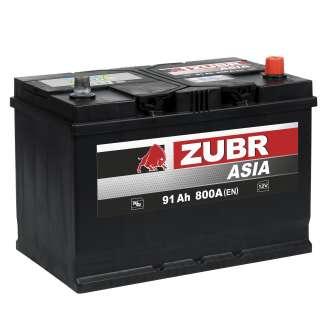 Аккумулятор ZUBR (91 Ah) 800 A, 12 V Обратная, R+ 1
