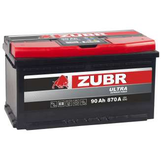 Аккумулятор ZUBR (90 Ah) 870 A, 12 V Обратная, R+ 0