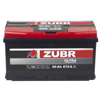 Аккумулятор ZUBR (90 Ah) 870 A, 12 V Обратная, R+ 1