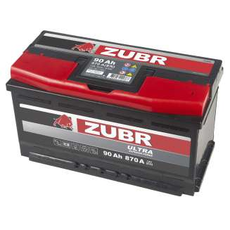 Аккумулятор ZUBR (90 Ah) 870 A, 12 V Обратная, R+ 2