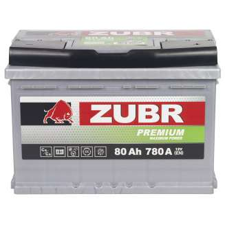Аккумулятор ZUBR (80 Ah) 780 A, 12 V Обратная, R+ 0
