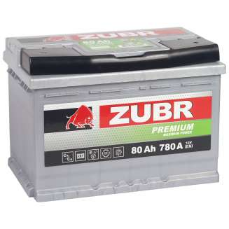 Аккумулятор ZUBR (80 Ah) 780 A, 12 V Обратная, R+ 1