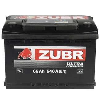 Аккумулятор ZUBR (66 Ah) 640 A, 12 V Обратная, R+ 0