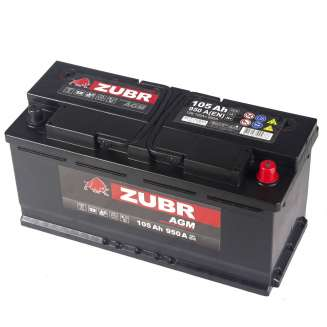 Аккумулятор ZUBR (105 Ah) 950 A, 12 V Обратная, R+ 1