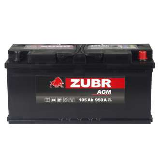 Аккумулятор ZUBR (105 Ah) 950 A, 12 V Обратная, R+ 2