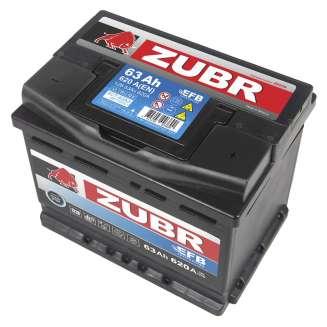 Аккумулятор ZUBR (63 Ah) 620 A, 12 V Обратная, R+ 1