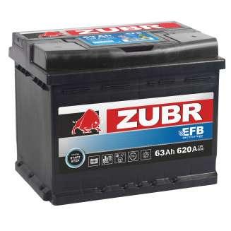 Аккумулятор ZUBR (63 Ah) 620 A, 12 V Обратная, R+ 2