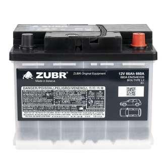 Аккумулятор ZUBR (66 Ah) 660 A, 12 V Обратная, R+ 0