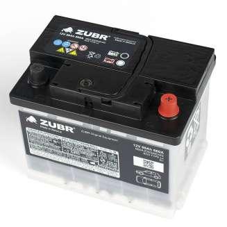 Аккумулятор ZUBR (66 Ah) 660 A, 12 V Обратная, R+ 1
