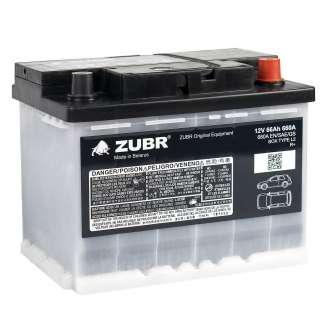 Аккумулятор ZUBR (66 Ah) 660 A, 12 V Обратная, R+ 2