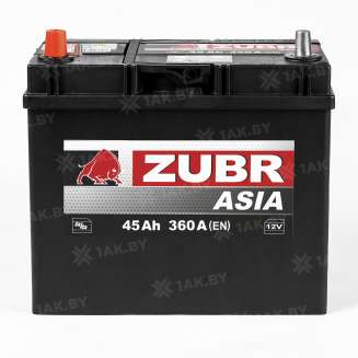 Аккумулятор ZUBR (45 Ah) 360 A, 12 V Прямая, L+ 0