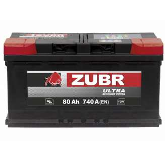 Аккумулятор ZUBR (80 Ah) 740 A, 12 V Обратная, R+ 0