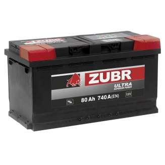 Аккумулятор ZUBR (80 Ah) 740 A, 12 V Обратная, R+ 1
