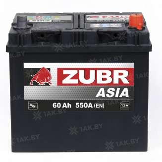 Аккумулятор ZUBR (60 Ah) 550 A, 12 V Обратная, R+ 0