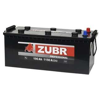 Аккумулятор ZUBR (190 Ah) 1150 A, 12 V Прямая, L+ 0