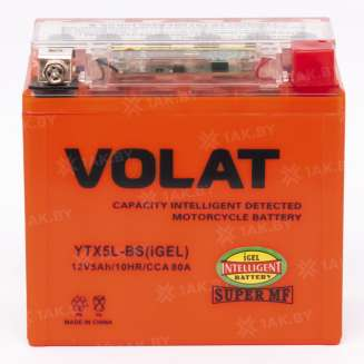 Аккумулятор VOLAT (5 Ah) 80 A, 12 V Обратная, R+ 1