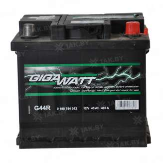 Аккумулятор GIGAWATT (45 Ah) 400 A, 12 V Обратная, R+ 0