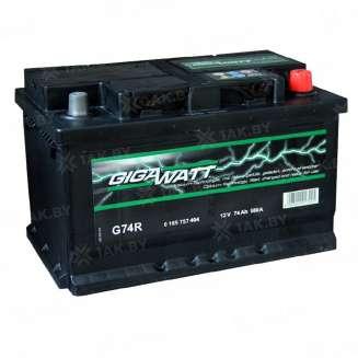 Аккумулятор GIGAWATT (74 Ah) 680 A, 12 V Обратная, R+ 0