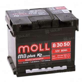 Аккумулятор MOLL (50 Ah) 420 A, 12 V Обратная, R+ 0