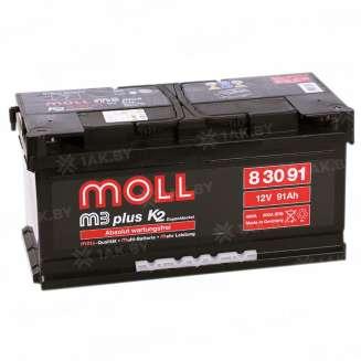 Аккумулятор MOLL (91 Ah) 800 A, 12 V Обратная, R+ 0