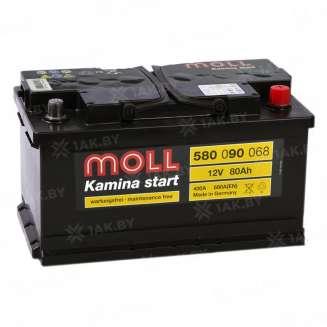 Аккумулятор MOLL (80 Ah) 680 A, 12 V Обратная, R+ 0