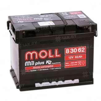Аккумулятор MOLL (62 Ah) 600 A, 12 V Обратная, R+ 0
