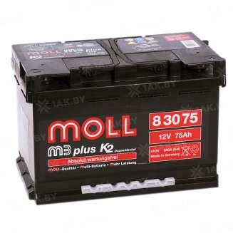 Аккумулятор MOLL (75 Ah) 590 A, 12 V Обратная, R+ 0