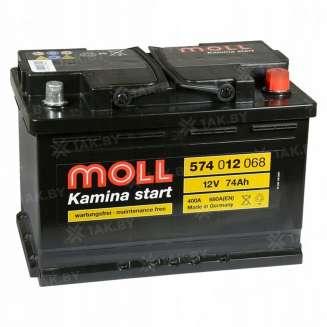 Аккумулятор MOLL (74 Ah) 680 A, 12 V Обратная, R+ 0