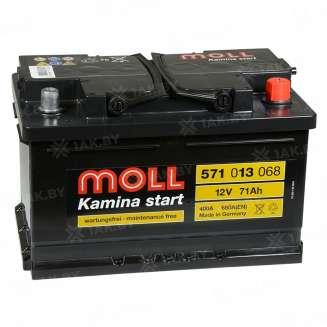 Аккумулятор MOLL (71 Ah) 680 A, 12 V Обратная, R+ 0