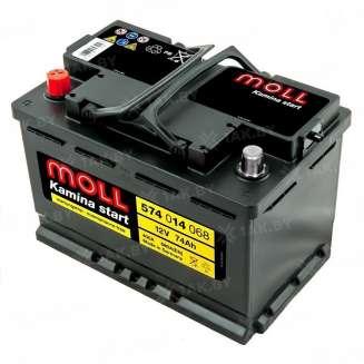 Аккумулятор MOLL (74 Ah) 680 A, 12 V Прямая, L+ 0