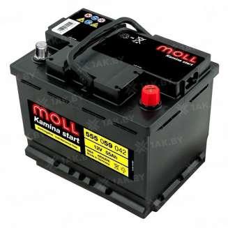 Аккумулятор MOLL (55 Ah) 420 A, 12 V Обратная, R+ 0