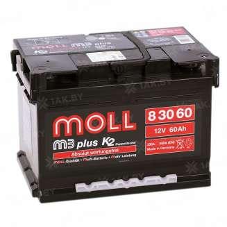 Аккумулятор MOLL (60 Ah) 550 A, 12 V Обратная, R+ 0