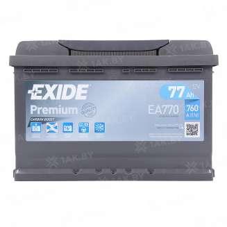 Аккумулятор EXIDE (77 Ah) 760 A, 12 V Обратная, R+ 0