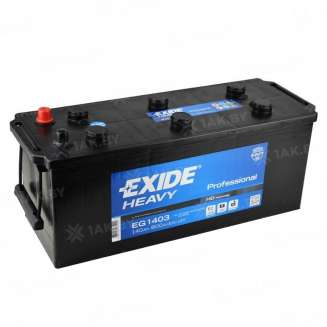 Аккумулятор EXIDE (140 Ah) 800 A, 12 V Прямая, L+ 0