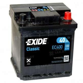 Аккумулятор EXIDE (40 Ah) 330 A, 12 V Обратная, R+ 0
