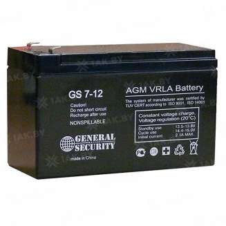 Аккумулятор GS (7 Ah) , 12 V 0