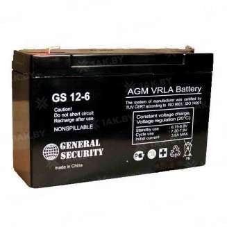Аккумулятор GS (12 Ah) , 6 V 0