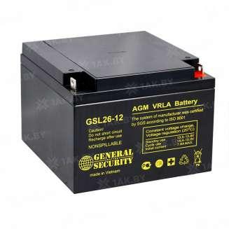 Аккумулятор GS (26 Ah) , 12 V 0