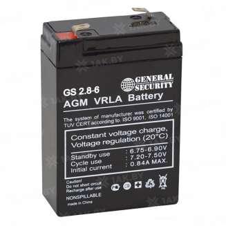 Аккумулятор GS (2.8 Ah) , 6 V 0