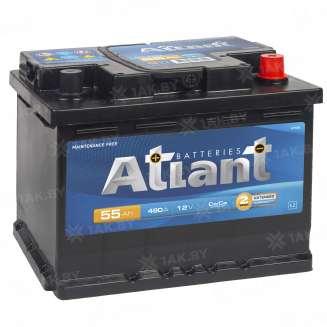 Аккумулятор ATLANT (55 Ah) 430 A, 12 V Обратная, R+ 1