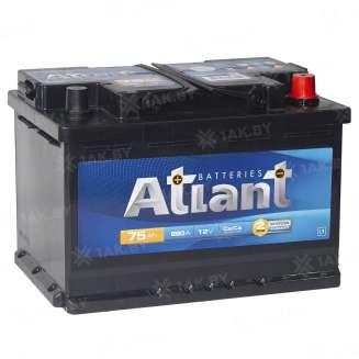 Аккумулятор ATLANT (75 Ah) 660 A, 12 V Обратная, R+ 0