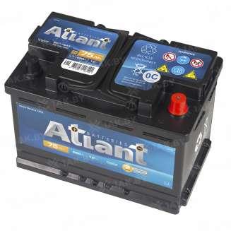 Аккумулятор ATLANT (75 Ah) 660 A, 12 V Обратная, R+ 1